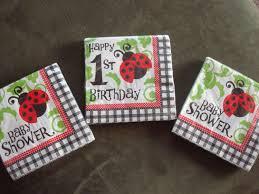 ladybug theme baby shower ladybug birthday party ladybug napkins