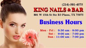 king nails u0026 bar in plano tx 75075 phone 214 501 4575