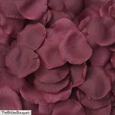 silk petals burgundy silk petals wedding centerpiece