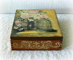 Decoupage Box Ideas - the 25 best wooden tea box ideas on decoupage box