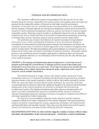 how to write the findings section of a research paper 11 findings and recommendations fostering integrity in research page 178