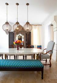 Dining Table Chandelier Luxurious Moroccan Dining Room Design With Glossy Dining Table