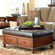 round ottoman coffee table s decorating ideas leather canada
