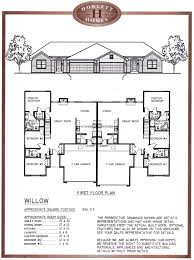 Duplex Floor Plans For Narrow Lots by Duplex House Plans With Garages Arts