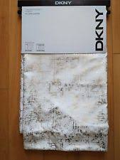 50 X 96 Curtains Dkny Mosaic Lined White Window Panels Pair 50 X 96ea