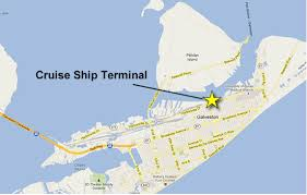 map of galveston directions to galveston cruise terminal and parking lots