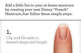 easy diy mickey mouse french manicure instructions for a
