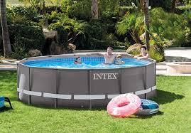 amazon com intex 14ft x 42in ultra frame pool set with filter