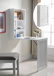 fold out wall desk amazon com kings brand white finish wood wall mounted fold out