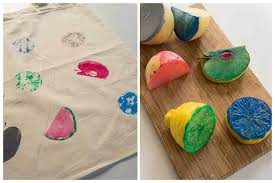 diy fabric printing with fruits or things to do with the