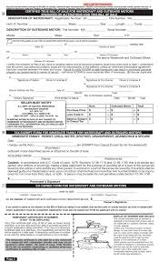Free Sle Of Bill Of Sale For Used Car by Free South Carolina Boat Bill Of Sale Form Pdf Eforms Free