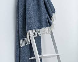 Throws For Sofa by Wool Throw Etsy