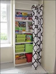 love this storage solution just hide it with a curtain home