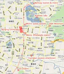 Nanking China Map by Icssp2014
