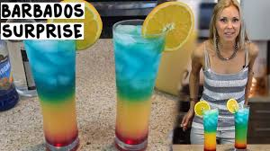 rainbow cocktail drink the barbados surprise cocktail tipsy bartender youtube