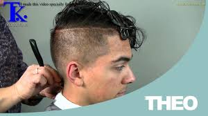 shaved back and sides haircut man s haircut sides shaved curly hairstyle on pravir by t k youtube