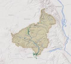 Portland Flooding Map by Maps Up Fanno Creek