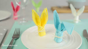 easter napkins how to fold a bunny napkin easter craft ideas 1