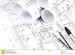 Building Plans by Rolled Building Plans Royalty Free Stock Photo Image 29828715