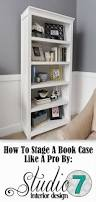 how to stage a bookcase a designer gives tips on how to create a