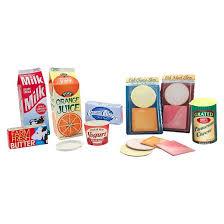 Kitchen Play Accessories - melissa u0026 doug fridge groceries play food cartons 8pc toy