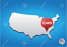 Vector Usa Map by Atlanta On Usa Map Royalty Free Cliparts Vectors And Stock