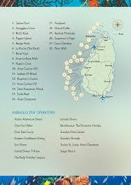Saint Lucia Map Diving