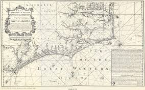 North Carolina State Map by 1738 Map Of North Carolina