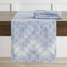 ice blue table runner table runners williams sonoma