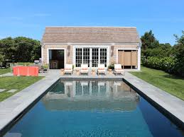 Pool House Cabana by Lux New Surfside Compound Steps To Homeaway Nantucket