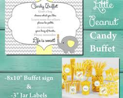 Baby Shower Candy Buffet Sign by Yellow Candy Buffet Etsy