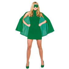 super hero cape with mask green costume super heroe fancy dress