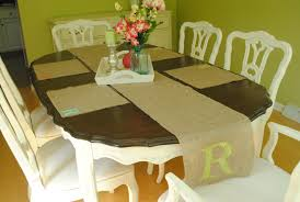miss pink lemonade monogrammed burlap table runner placemats my dining room is the only room in our house that has a south window it s probably my favorite room because if the sun