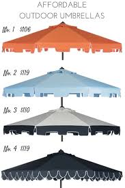 Cheap Patio Umbrella by Affordable Outdoor Patio Umbrellas Effortless Style Blog