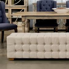 Long Tufted Sofa by Long Tufted Bench Sarreid Ltd Portal Your Source For The