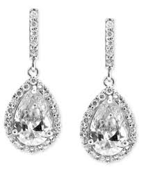 tear drop earrings b brilliant sterling silver earrings cubic zirconia pave