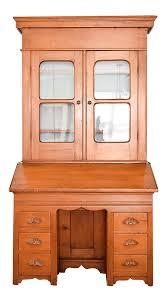 antique victorian secretary desk bookcase or hutch chairish