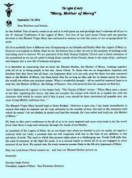 thanksgiving prayer to mother mary the san francisco senatus of the legion of mary