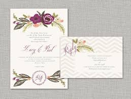 Elegant Wedding Invitations Wedding Invitations With Florals Chevron