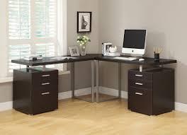 Corner Desk Office by Monarch Specialties Cappuccino L Shaped Corner Desk Walmart Com