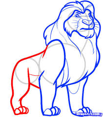 draw mufasa from lion king step by step drawing sheets added by