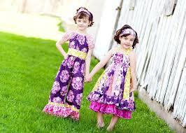 blue and purple color kids knot dress 2014 adworks pk adworks pk