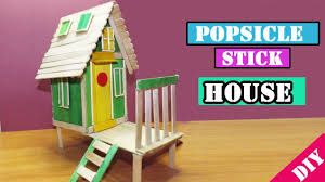 diy popsicle stick house 16 easy crafts for kids youtube