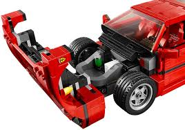 lego f40 lego s gorgeous f40 even has a removable v8 engine