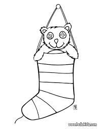 teddy bear and fireplace stocking coloring pages hellokids com