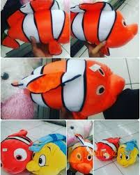 film kartun nemo boneka bantal mainan anak karakter hewan ikan hias air laut tokoh