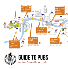 Marathon Route Map by Guide To Pubs Along The London Marathon 2016 Route U2013 Map Of Best