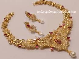 indian gold jewellery necklace designs image buom jpg 800