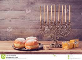 vintage menorah hanukkah celebration with vintage menorah