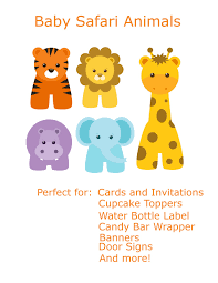 Baby Shower Clip Art Free - free baby animal clip art paper parties baby safari clip art